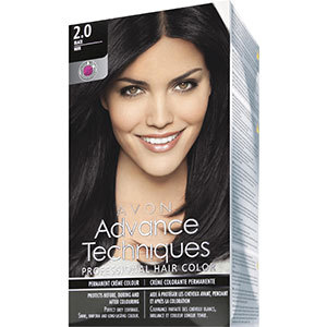 Avon Advance Techniques PROFESSIONAL HAIR COLOUR Haar-Coloration 2.1, Blau - Schwarz