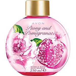 Avon BUBBLE BATH Schaumbaud Pfingstrose & Granatapfel 250 ml