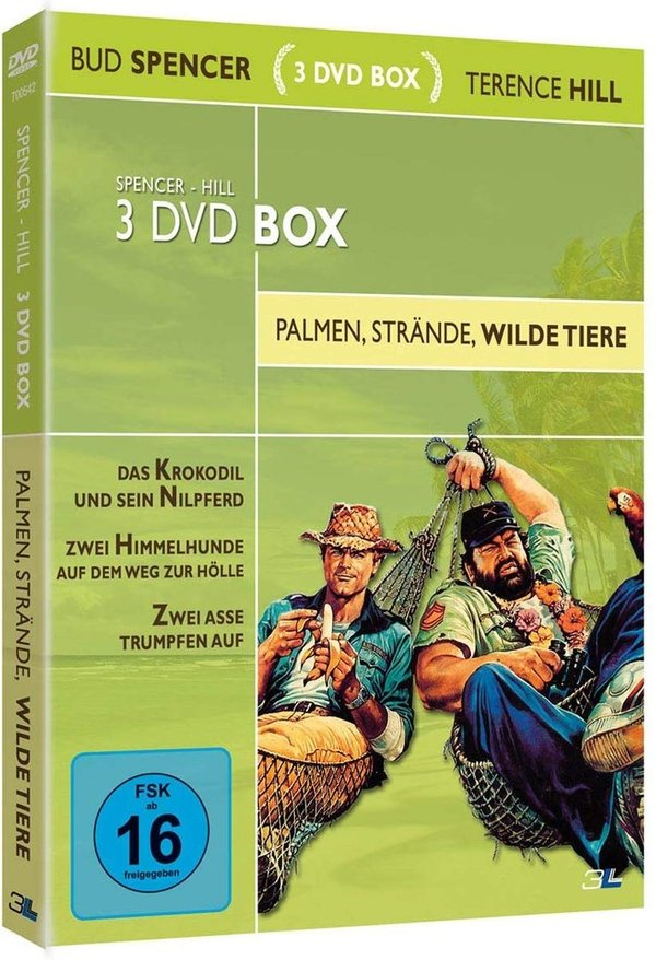 DVD -Bud Spencer & Terence Hill 3 DVD Box - Palmen, Strände, wilde Tiere