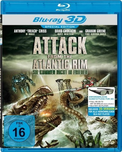 DVD -Attack From The Atlantic Rim - 3D Blu-ray & 2D Version