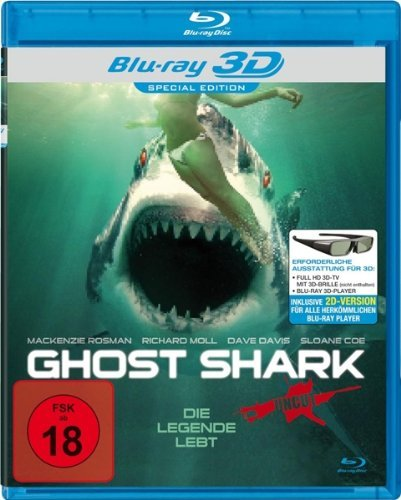DVD -Ghost Shark - Uncut - 3D Blu-ray & 2D Version