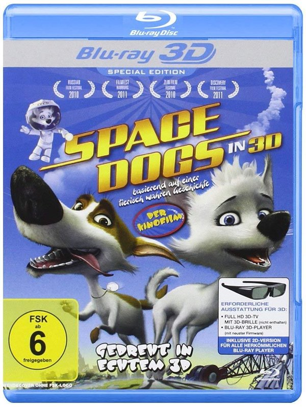 DVD -Space Dogs - Der Kinofilm Real 3D Editon (3D Blu-ray) [Special Edition]