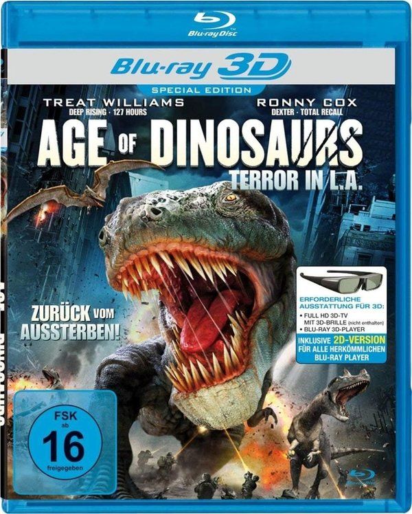 DVD -Age Of Dinosaurs - Terror In L.A. - 3D Blu-ray & 2D Version
